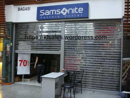 Samsonite 货物大倾销