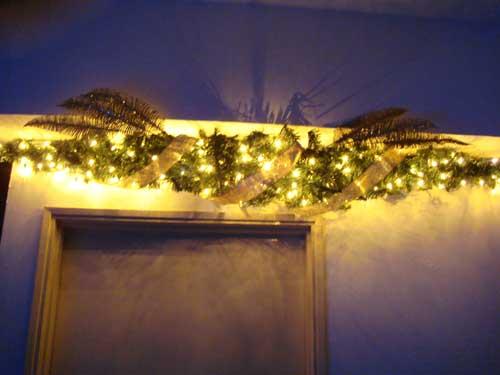 每当圣诞节和元旦到来的时候, 我就把它装扮起来。既有节日气氛,又给我们带来劳动成果的享受。今天将它展示给朋 友,共同分享其�的快乐。