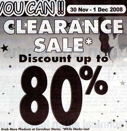 Carrefour Clearance Sale